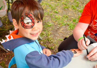 facepainting and glitter tattoos